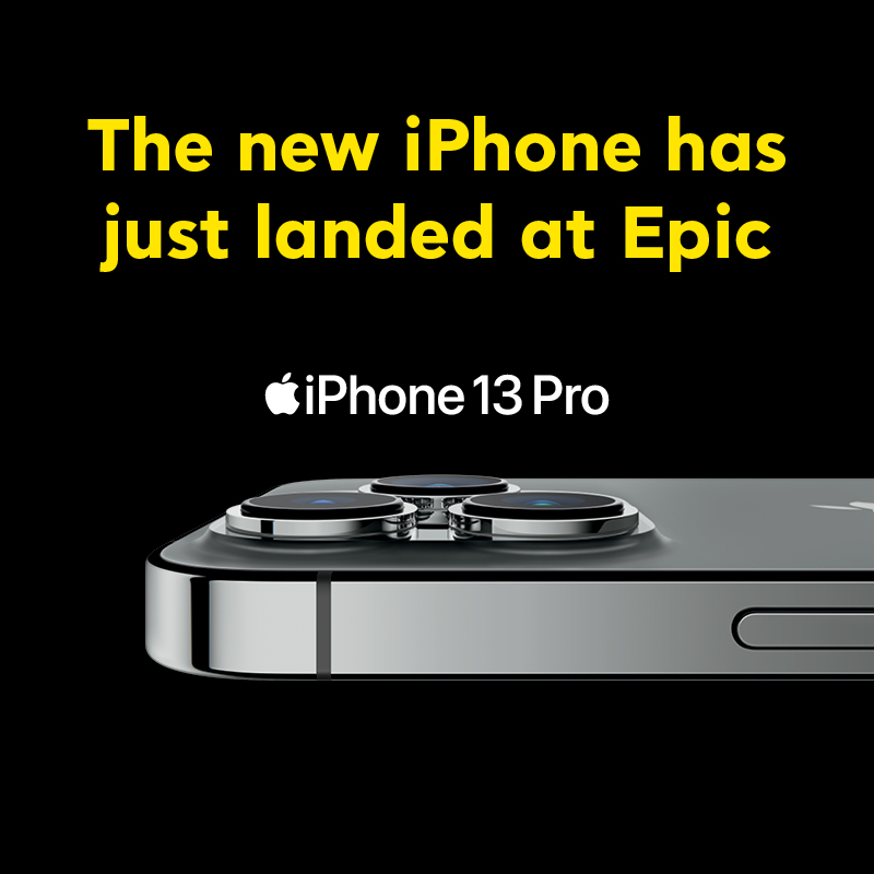 iPhone 13 has just landed at Epic